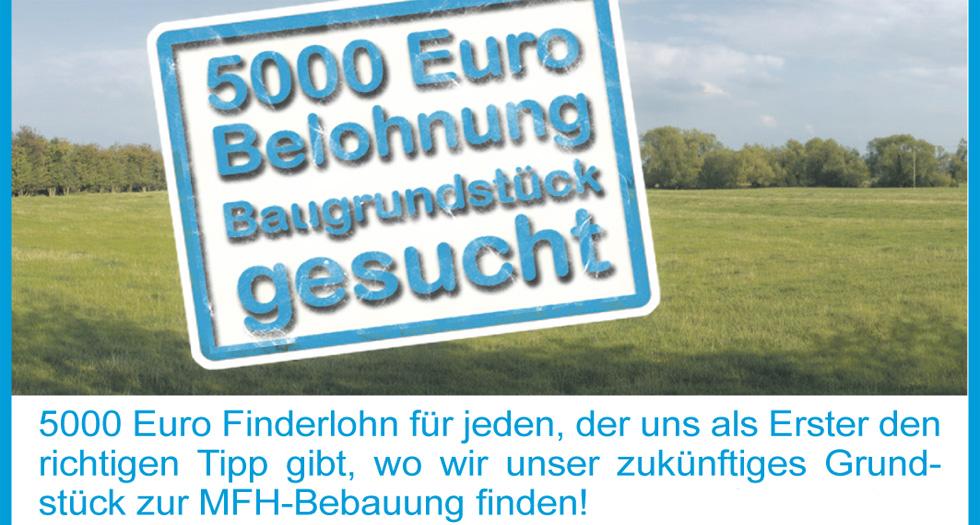 5000 Euro fuer ein Baugrundstueck
